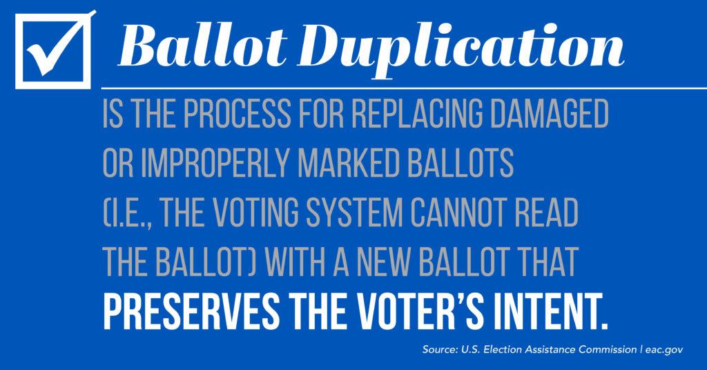 Definition of ballot duplication
