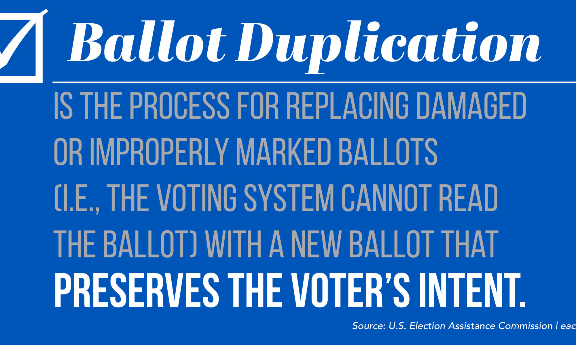 Definition of ballot duplication